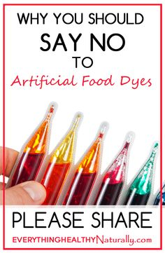 Why You Should Say No To Artificial Food Dyes. I a producer wants to make a high quality product they would never use coloring. I use this to determine what to buy.