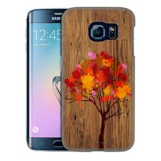 Samsung Galaxy S6 Edge Paint Splattered Tree on Wood Trans Case