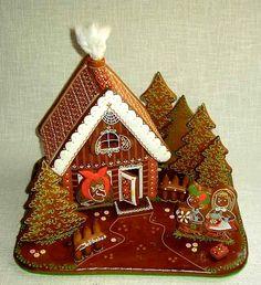 perníková chaloupka Gingerbread House Designs, Gingerbread Decorations, Christmas Gingerbread House, Gingerbread Man, Gingerbread Cookies, Christmas Decorations, Christmas Cakes, Christmas Goodies, Christmas Holidays