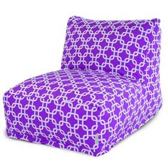 Majestic Home Goods Purple Links Bean Bag Lounger Chair Size Large Cotton