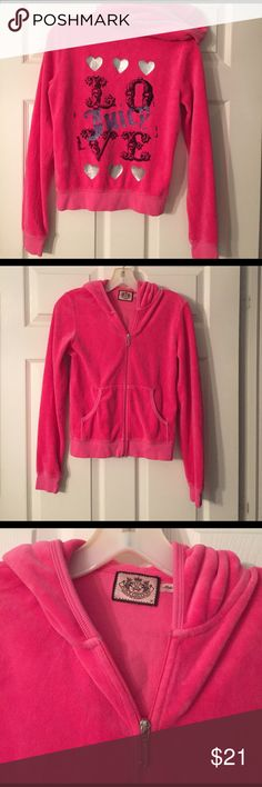 Adorable Pink Embellished Juicy Couture Jacket Beautiful pink embellished jacket, see for yourself, excellent condition! Juicy Couture Jackets & Coats