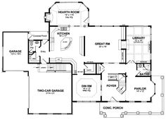 images about Houses  be on Pinterest   House plans  Square    First Floor Plan of Country Traditional House Plan