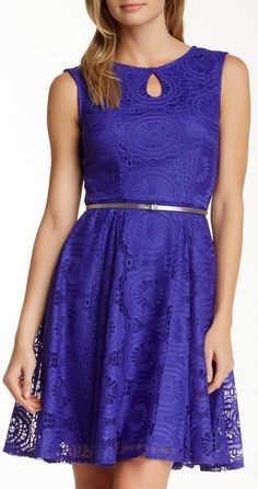 Maggy London Fit & Flare Lace Dress