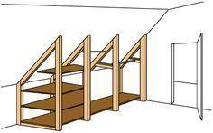 Schrank für Dachschrägen