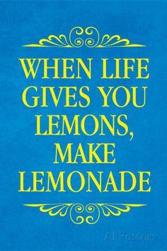 When Life Gives You Lemons Make Lemonade Plastic Sign Signes en plastique rigide…
