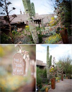 @Patricia Tompkins - Desert Wedding - names + tables