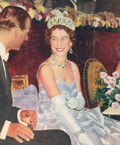 The Queen--see the love in her eyes? she really was a stunner