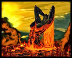 Pele - Hawaiian Goddess of Volcano fire. Hawaiian Art, Hawaiian Tattoo, Hawaiian Goddess, Hawaiian Mythology, Greek Mythology, Hawaii Volcano, Gods And Goddesses, Deities, Fantasy Characters