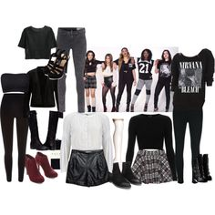 Steal Her Style: Fifth Harmony by katie-leigh-fashionista on Polyvore featuring High, Topshop, SELECTED, MANGO, River Island, rag & bone, J Brand, Falke and Giuseppe Zanotti