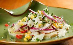Ceviche peruano com milho e batata-doce