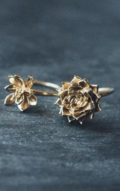 Succulent Rings by Collected Edition on Etsy