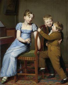 Willem Bartel van der Kooi painted Piano Practice Interrupted in 1813.