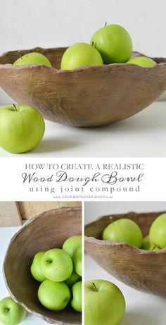 How to Create a Rustic Dough Bowl using a thrift store globe, hardware store joint compound and paint.