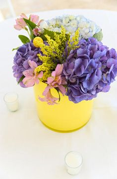 Purple & yellow combo