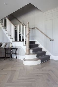 The perfect parquet flooring staircase tiled hallway, amtico Direct Wood Flooring, Hall Flooring, Living Room Flooring, Parquet Flooring, Grey Flooring, Wooden Flooring, My Living Room, Kitchen Flooring, Flooring Ideas