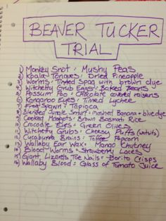 Bush Tucker Trial Food Ideas