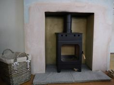 Some examples of the stoves Cosi has installed & the tired, outdated fireplaces we've transformed. House Inspiration, Stone Uk, Corner Wood Stove, Stone Slab, Fireplace Hearth Stone, Hearth Stone, New Living Room, Fireplace Hearth, Wood Stove Hearth