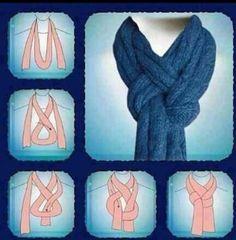 Neat way to wear a scarf