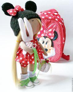 Купить Интерьерная кукла 26 см - ярко-красный, Микки Маус, минни маус