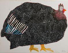 Miroco Machiko chicken painting.