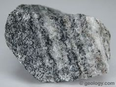 Gneiss and other types of metamorphic, igneous, and sedimentary rocks Rock Identification Pictures, Different Types Of Rocks, Formations Rocheuses, Igneous Rock, Rock Collection, Rocks And Gems, Rocks And Minerals, Stones And Crystals, Earth Science