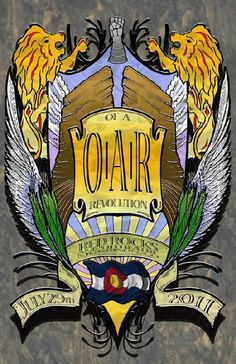 Original concert poster for Of A Revolution (O.A.R) and Soja at Red Rocks in Morrison, CO in 2011.  11x17 card stock. Art by Mark Serlo.