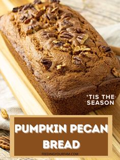 Pumpkin Recipes, Fall Recipes, Great Recipes, Pumpkin Bread, Pumpkin Spice, Easy Snacks, Healthy Snacks, Good Food, Yummy Food