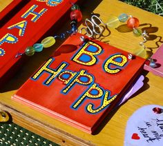 Sign Be Happy Boho Chic Bohemian Decor by CasaKarmaDecor on Etsy