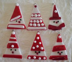 Fused glass Santa Ch