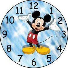 this listing is for a image to be emailed to you. i created the clock face using photo editing software. make a custom clock for a favorite grandkid or child. any questions please ask. Mickey Mouse Clock, Disney Clock, Mickey Mouse Classroom, Disney Classroom, Mickey Minnie Mouse, Disney Mickey, Clock Face Printable, Clock Clipart, Image Mickey