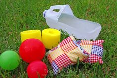 {Triple T Mum} Milk Carton Catcher. Fun and easy to make at home. Lots of activities to play and can be adapted for different age groups. Gross Motor Activities, Outdoor Activities For Kids, Toddler Activities, Fun Activities, Toddler Learning, Toddler Toys, Fun Games, Games For Kids, Preschool Crafts