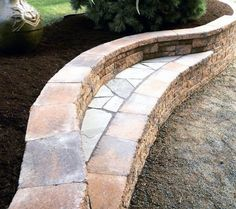 Top 60 Best Retaining Wall Ideas - Landscaping Designs - - From stacked natural stone to modern steel and beyond, discover the top 60 best retaining wall ideas. Explore cool and unique landscaping design ideas. Backyard Retaining Walls, Rock Retaining Wall, Building A Retaining Wall, Concrete Retaining Walls, Retaining Wall Drainage, Low Retaining Wall Ideas, Retaining Wall Design, Sloped Yard, Sloped Backyard
