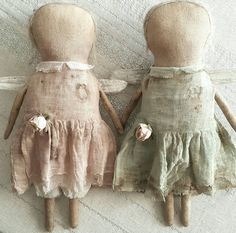 Primitive Faceless Angel Doll ooak Fabric by VeenasMercantile