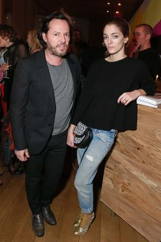 Alexandre de Betak and Sofía Sanchez de Betak in Re/Done Levi's jeans - Olivier Zahm and Re/Done Levi's Host a Dinner for Purple's Love Issue Dinner