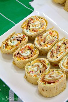 Cheddar Bacon Ranch Pinwheels, tortillas filled with ranch flavored cream…