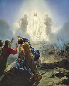 bloch, carl heinrich - The Transfiguration of Christ Paintings Of Christ, Jesus Painting, Religious Paintings, Religious Art, Jesus Our Savior, Jesus Art, Bible Images, Bible Pictures, Religious Pictures