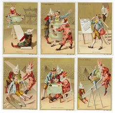 CHROMOS BON MARCHÉ - 1892/1894 - PANTOMIMES AU CIRQUE. Série complète des 6[...]   Auction.fr