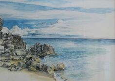 View across to my first underwater site, Bermuda Watercolour