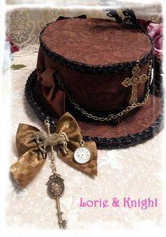 Retro Brown Steampunk Mini Top Hat