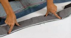 Watch as fashion designer and patternmaker Angela Wolf shows you how to add a nonstretch waistband to your favorite pair of jeans.