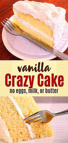 #depression #allergies #delicious #awesome #satisfy #vanilla #butter #recipe #called #people #tooth #sweet #quic... Wacky Cake Recipe, Cake Recipes, Crazy Cakes, Cereal, Vanilla, Butter, Vegetables, Breakfast, Food