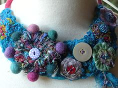 Hey, I found this really awesome Etsy listing at https://www.etsy.com/listing/169704205/felt-and-silk-chiffon-necklace