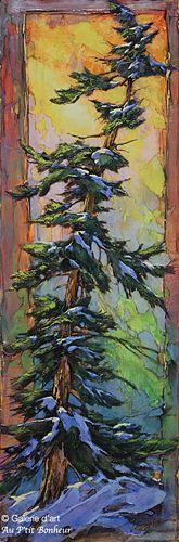 David Langevin, 'Productive', 12'' x 36'' | Galerie d'art - Au P'tit Bonheur - Art Gallery