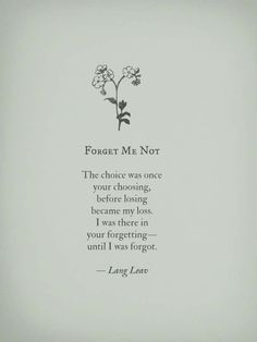 forget me not (please)