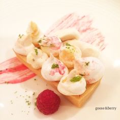Lemon tart with ginger stem ice cream #dessert #pudding #tart #seasonal #local #delicious #perfect #caterers #bestofbritish #events #London #Buckinghamshire #Marlow #corporate #wedding