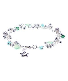 Another great find on #zulily! Chrysolite Opal Rivoli Charm Bracelet With Crystals From SWAROVSKI by callura #zulilyfinds