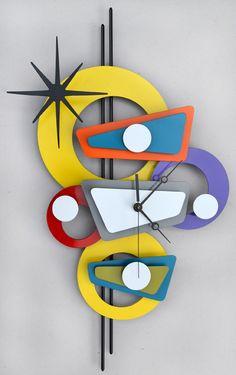 Stevo Cambronne's Atomic, Modern, Retro Metal Art, Metal Sculpture and Metal Tiki Bar Art ----- These are amazingly fun!