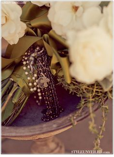 Bridal Bouquet detail for a Tuscan-style Wedding