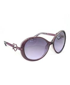 Take a look at this Purple Heart Round Sunglasses - Women by GUESS on #zulily today!