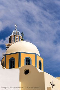 Catholic Church in Fira, Santorini Island, Greece